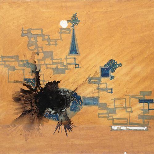 MIKAÏLOFF Just, 1936 1969  Sans titre noir et brun  aquarelle, encre de Chine et…