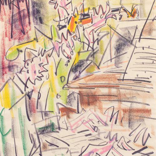 GEN PAUL, 1895 1975  Pianiste et violoniste  dessin au Crayocolor sur papier, si…