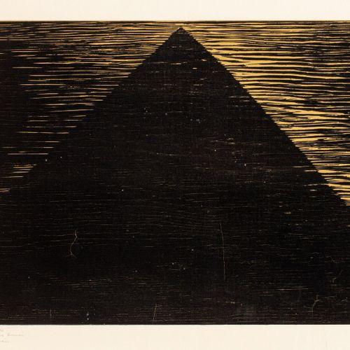 BERGMAN Anna Eva, 1909 1987  Pyramide  gravure sur bois en or et noir, EA (très …