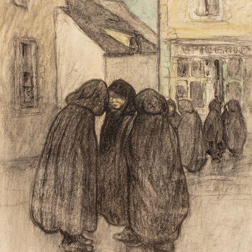 ADLER Jules, 1865 1952 Deuil en Limousin, Crozant fusain et aquarelle sur papier…