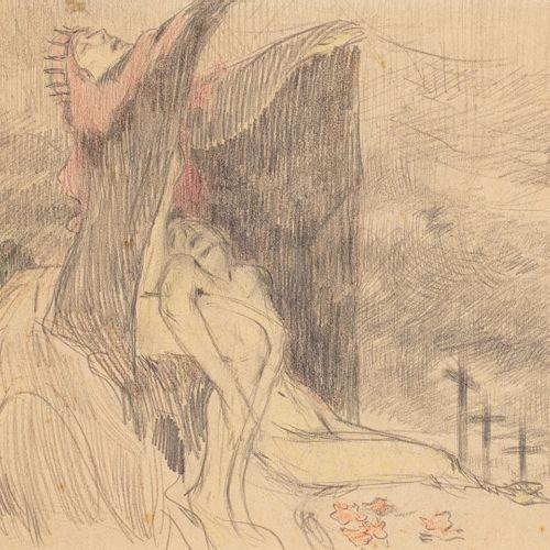 CORNELIUS Jean Georges, 1880 1963  Femmes au calvaire  mine de plomb et crayons …