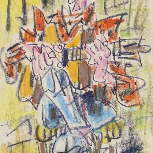 GEN PAUL, 1895 1975  Guitariste  dessin au Crayolor, signé en haut à gauche  42,…