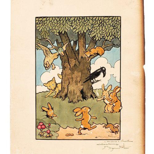 RABIER Benjamin, 1864 1939  Les animaux de La Fontaine, Uncle Ben Stories, 1936 …