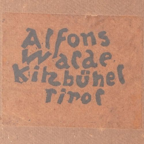 WALDE Alfons, 1891 1958  Tyrolienne à Kitzbühel, Tirol  tempera sur carton (peti…