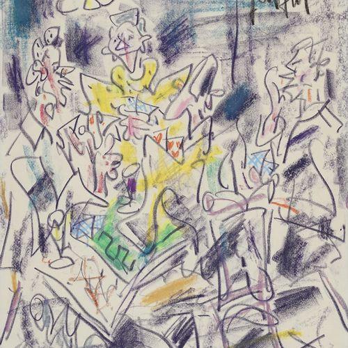 GEN PAUL, 1895 1975  Au bar  dessin au Crayolor, signé en haut à droite  41,5x31…