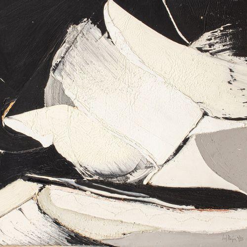 MEYER Jan, 1927 1995  Sans titre, 4/73  huile sur papier marouflé sur panneau (i…