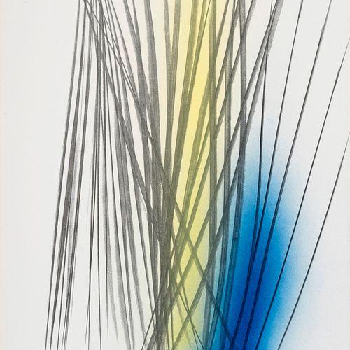 HARTUNG Hans, 1904 1989  PM1971 12, 1971  acrylique et pastel sur carton baryté,…
