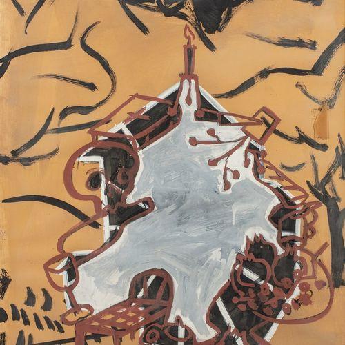 CAMPANO Miguel Angel, 1948 2018  La mort grise, 25.2.88  peinture sur papier bei…
