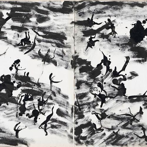 MICHAUX Henri, 1899 1984  Sans titre, 1971  acrylique et encre de Chine sur deux…