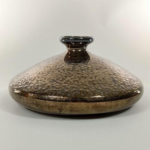 GAZIELLO Noël, XXe siècle  Vase.  Terre blanche, signature manuscrite peinte sou…