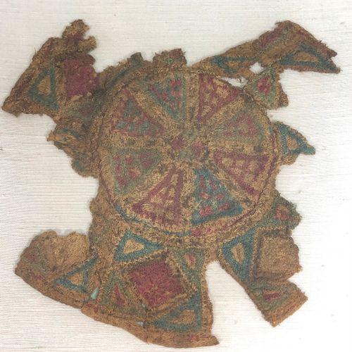 EGYPTE COPTE, VI VIIIe siècle ou plus tardif,  Fragment de tissu à décor central…