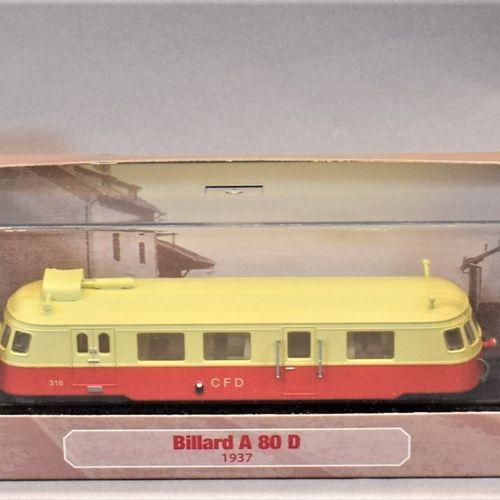 ATLAS版系列 米其林和汽车用品  1/87比例的三套 :     彪形大汉A 80 D 1937   德迪特里希270马力燃气动力轨道车 1938年   1…
