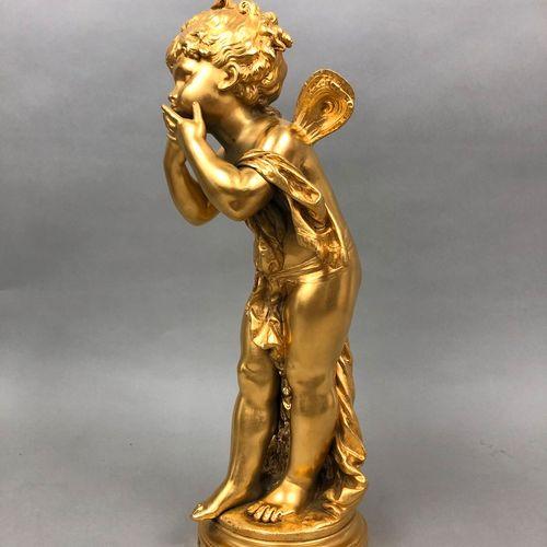 Louis Auguste MOREAU (1855 1919), d'après  La fée sifflante,  Bronze doré signé,…