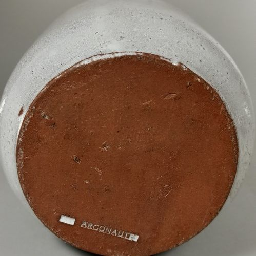 LES ARGONAUTES  Lot de trois pièces :   Pichet Chocolatière Bouteille.  Terre de…