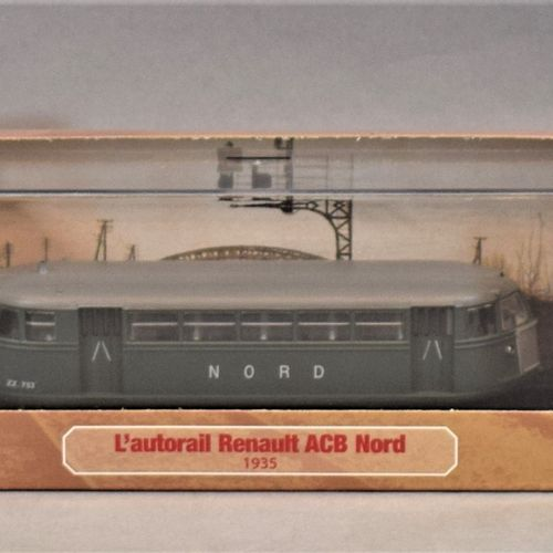ATLAS版系列 米其林和汽车用品  三套1/87比例的产品。     雷诺ACB Nord轨道车,1935年   1936年德高维尔PLM第一系列   标准诺…