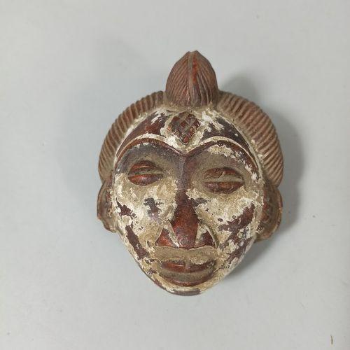 Deux petites masquettes Punu (Gabon)  Terre cuite  Copies pour le marché colonia…