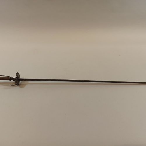 Small town sword certainly carried by a teenager.  Iron frame inlaid with silver…
