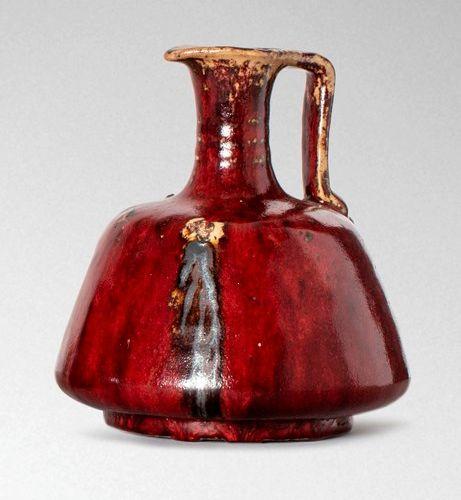 Pierre Adrien DALPAYRAT (1844 1910)  Pichet en grès à anse latérale détachée et …