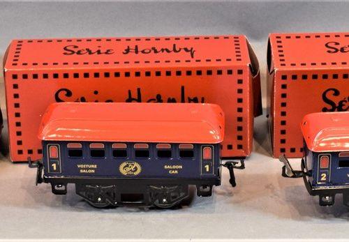 HACHETTE Série HORNBY  Locomotive et voitures de voyageurs, échelle « O » :     …