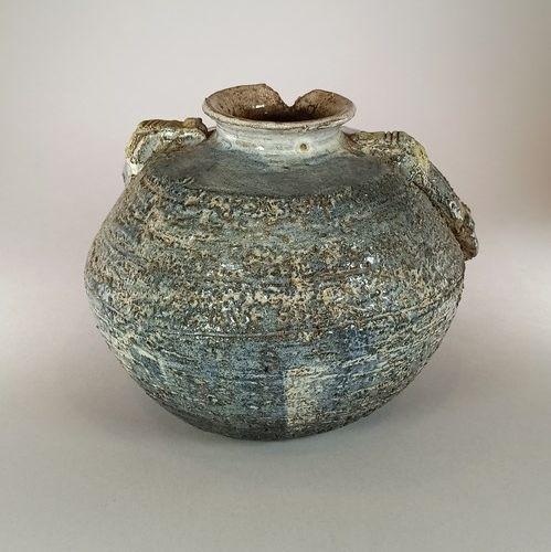 SIFREDI Max (né en 1941)  L'ESPIGAOU Atelier  Vase sculpture représentant un mar…