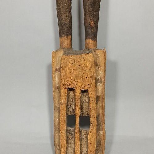 Ancien masque WALU, Dogon (Mali), fin XIXème siècle  Erosion xylophagique import…