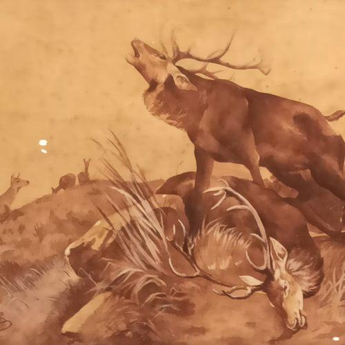 G.COQUARD(20日),在ROTIG之后。  胜利之光。  裱在木板上的画布,左下方有签名和日期1908年。  48.5 x 64.5厘米