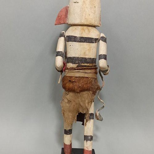 Kachina KOSHARI ou KOYALA (Kachina clown Hano) HOPI (Arizona USA) Bandes parallè…