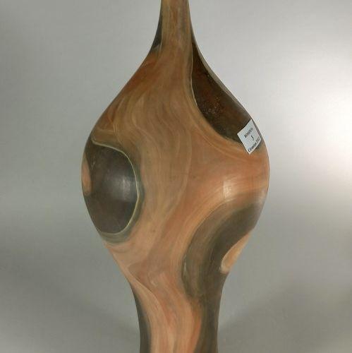 AGARD Jules (1905 1986)  Vase sculpture de femme.  Terre de Vallauris, signature…
