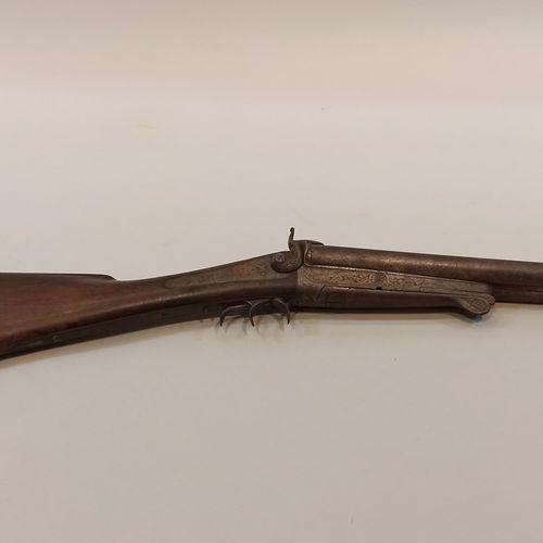 Fusil de chasse à broche.  Cal 12.  Canon raccourci, mauvais état.