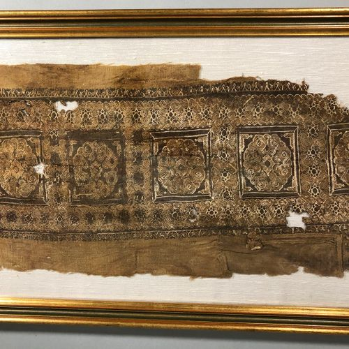 EGYPTE, VI VIIIe siècle,  Partie de tunique Copte à décor répétitif géométrique …