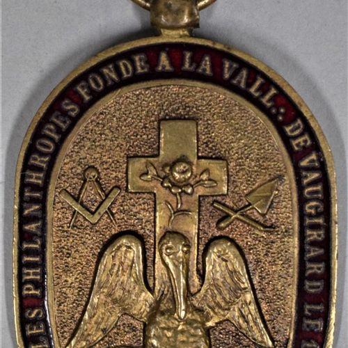Médaille du souverain chapitre les zélés philanthropes à la vallée de Vaugirard.…