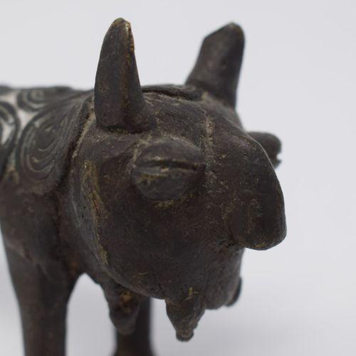 Une paire de bronzes représentant des panthères   Copie du royaume du Bénin pour…