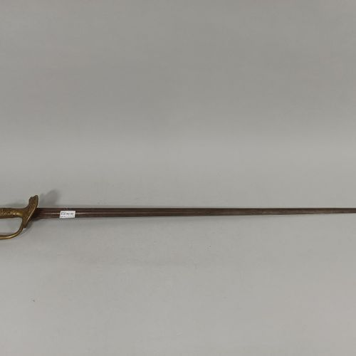 Sword of the Municipal Guard.  Plate with the arms of Paris and fuse decorated w…