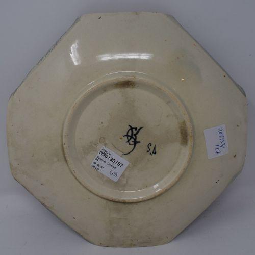 Georges TRINQUE  Vase en terre cuite patinée.      On y joint une assiette octog…