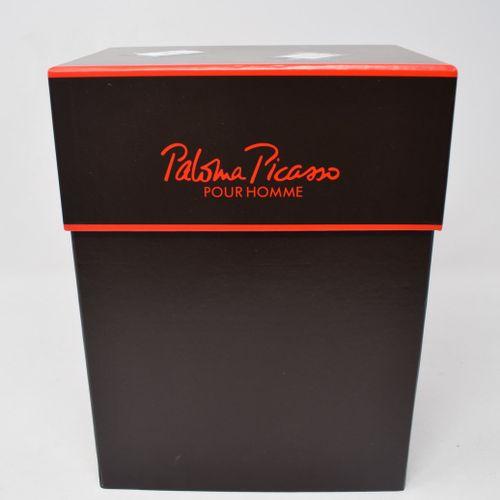 PICASSO Paloma (1949) d'ap.  MINOTAURE vase en verre à décor géométrique Ht 25 c…