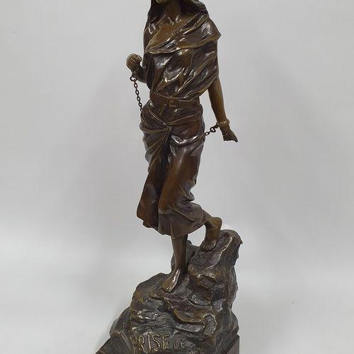 VILLANIS Emmanuel, d'après  Prise de Corsaire  bronze à patine brune nuancée, fo…