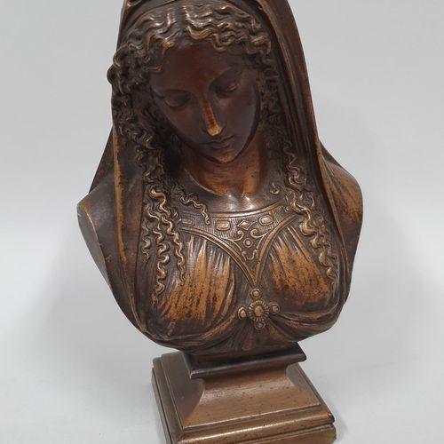 MARIE Desiré Pierre Louis (1761 1863)  Buste de femme,  Sculpture en bronze à Pa…