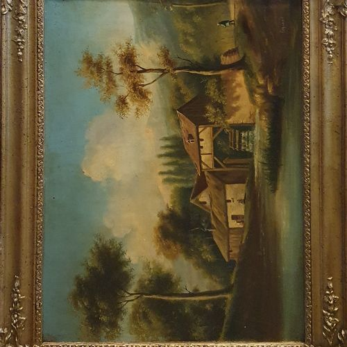 LEGRAND (19世纪)    桥的景色。  布面油画,右下角有签名。  事故  46.5x62.7厘米    磨坊的景色。  布面油画,右下角有签名。  …