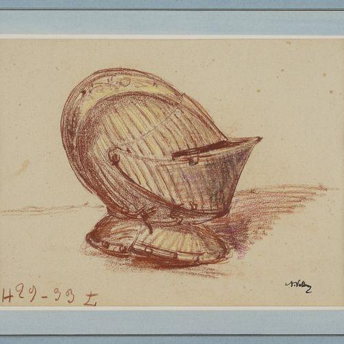 VOLLON Antoine, 1833 1900  Haume Musiciens  deux dessins: un pastel et un fusain…