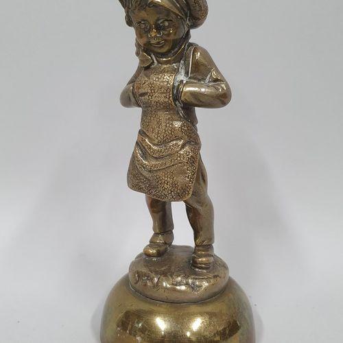 BAILLY Charles Eloy, d'après   Gavroche  Bronze à patine doré, fonte d'édition m…