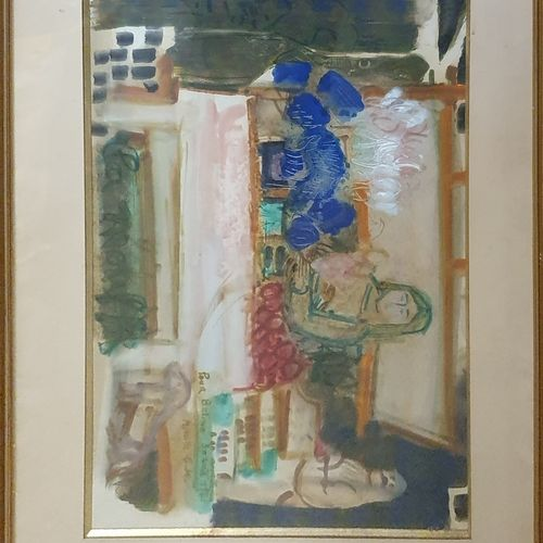 GLODEK MIAILHÉ Mireille (1921 2010)  Marché  Aquarelle, signée en bas à droite a…