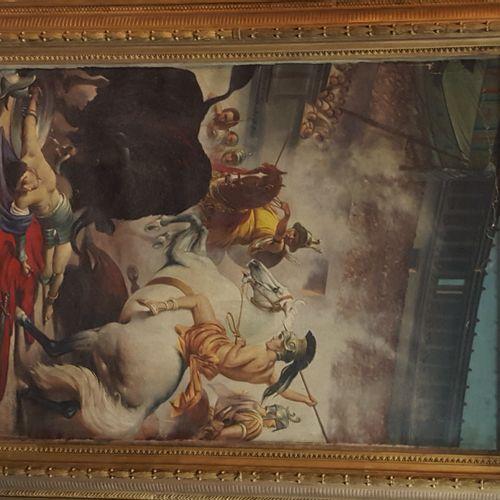 SANDOR Wagner (1838 1919)复制于  马戏团的游戏。  布面油画,右下角有天启式题字  140x110厘米(带框架  事故