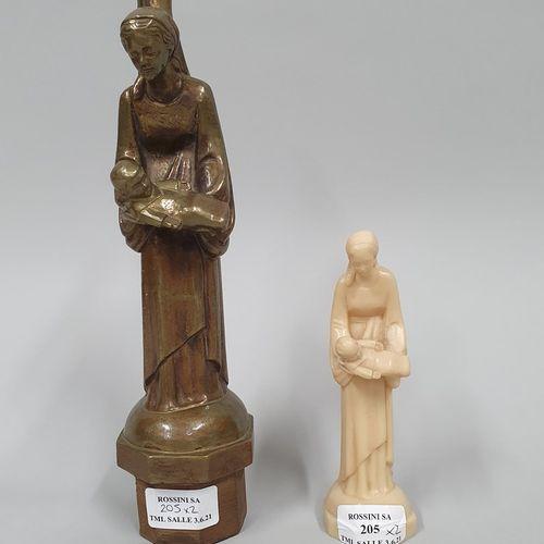 HARTMANN Jacques (1908 1994)  Vierge à l'enfant  Bronze à patine médaille nuancé…