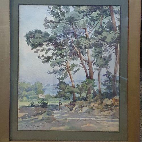 JAUBERT Paul (1869 1927)  Camp major, 1917  Aquarelle sur papier, signé en bas a…