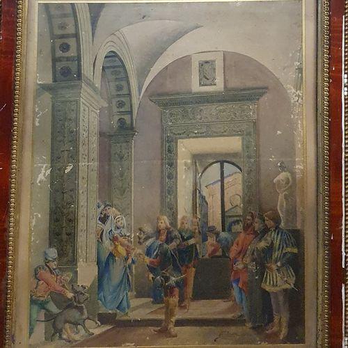 AMADEI  La présentation, 1903  Aquarelle sur papier signé et daté en bas à droit…