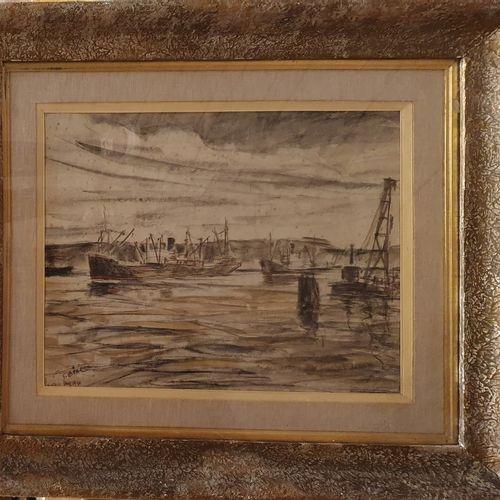 LAVAL Fernand (1886/95 1966)  Le val de la Haye, 1930  Aquarelle et fusain sur p…