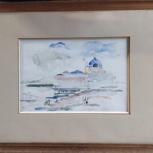KOHL Pierre, 1897 1985  Le casino de la jetée, Nice, 1931  aquarelle (rousseurs)…