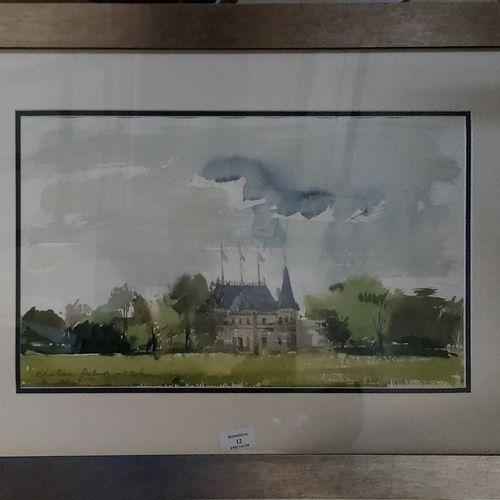PREKAS Paris (1926 1999)  Chateau Palmer, 6 10 1977  Aquarelle signée, située et…