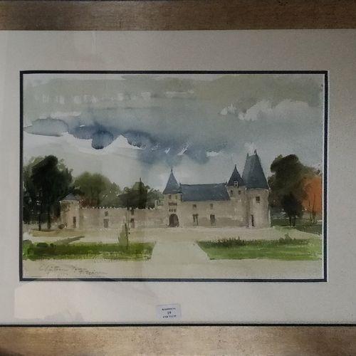 PREKAS Paris (1926 1999)  Chateau Yquem, 9 10 1977  Aquarelle, signée, située et…