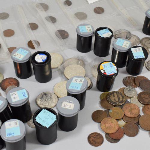 Ensemble de pièces en argent :   Dixième d'écu Louis XVI (aux rameaux d'olivier)…